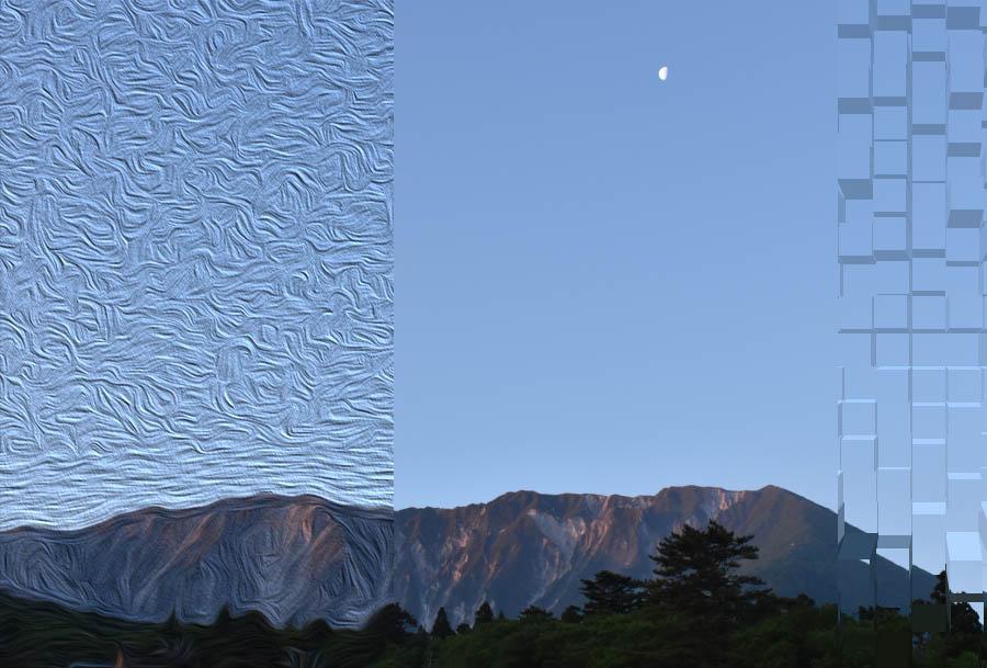 伯耆大山の連峰、北麓より望む。photo by 四万十川洞安