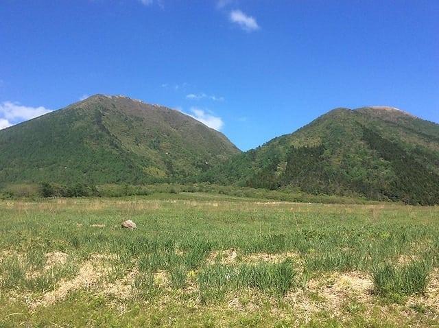 西の原から望む三瓶山