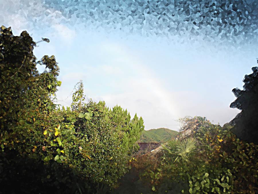 自宅から見た虹