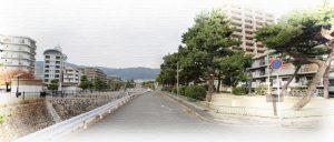 徳川道起点(阪神・石屋川駅近く)